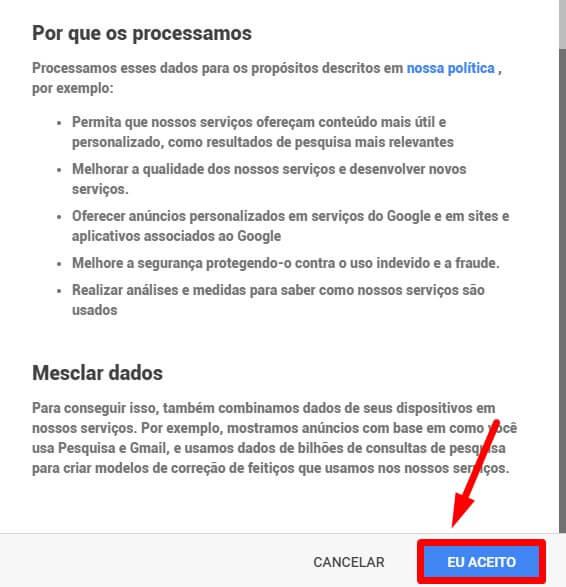 gmail criar conta nova