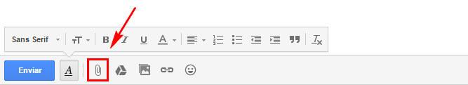 como enviar arquivos pelo gmail